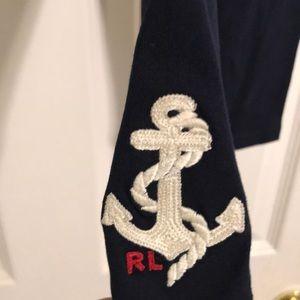 NWT Ralph Lauren Baby Girl Anchor Leggings 18m